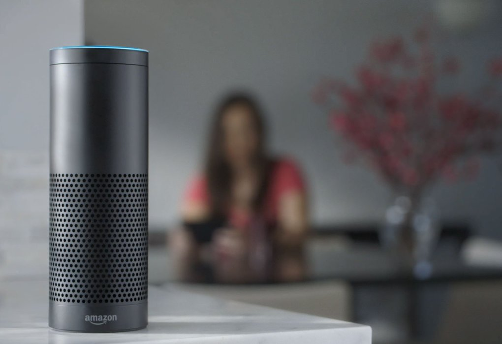 This product image provided by Amazon shows the Amazon Echo speaker. The biggest feature in Amazon's Echo speaker is a voice-recognition system called Alexa that is designed to control Pandora, Amazon Music and Prime Music services as well as give information on news, weather and traffic. (Amazon via AP) NYBZ168